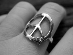 Peace Ring Handcrafted in Sterling by deliasthompson