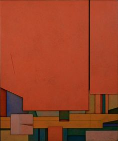 Gunther Gerzso (Mexico, 1915 - 2000) Rojo-Azul-Naranja(Red-Blue-Orange) 1970