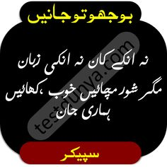 Riddles in Urdu for Kids with Answers 2020 Tough Riddles, Funny Puzzles, Chai Quotes, Love Life Quotes, Funny Jokes, Play, Humor, Kids, Hard Riddles