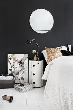 Black wall / white floor - a big hit with us as www.calvesrsandsuvdal.com