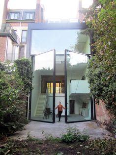 Architecture by sculp.IT architecten (Belgium) Architecture Design, Residential Architecture, Amazing Architecture, Contemporary Architecture, Futuristic Architecture, Patio Interior, Interior And Exterior, Image Deco, Exterior Design