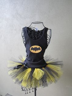 Office Halloween Idea... maybe? Runners Love Tutus Batgirl Inspired Custom by LuckyNumberTutu, $45.00