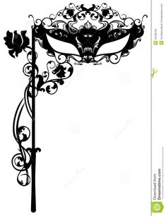 Red And Black Masquerade Invitations