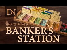 Learn how to make a Banker's Station that keeps the money, properties, houses and hotels organized while you play Monopoly. Diy Furniture Projects, Wood Projects, Woodworking Projects, Welding Projects, Woodworking Plans, Board Game Table, Game Tables, Table Games, Homemade Board Games