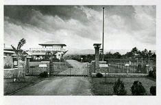 Het KNILM station gebouw op vliegveld Andir te Bandoeng ca 1928