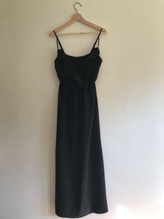 Tokito Long Black Frill Strap Sleeveless Maxi Dress - Size 12 in Clothing, Shoes, Accessories, Women's Clothing, Dresses Dressy Dresses, Long Black, No Frills, Size 12, Clothes For Women, Ebay, Fashion, Outerwear Women, Moda