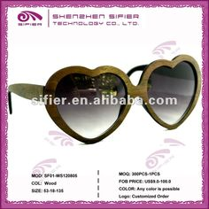 2012 Fashion Wooden Heart Shaped Sunglasses - Buy Heart Shaped Sungasses,2012 New Fashion Sunglasses,Fashion Wooden Sunglasses Product on Alibaba.com