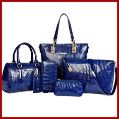 6 Sets 2015 new women 100% genuine leather bag desigual fashion ladies shoulder bags luxury bolsas crossbody bag tote clutch-in Top-Handle Bags from Luggage & Bags on Aliexpress.com | Alibaba Group