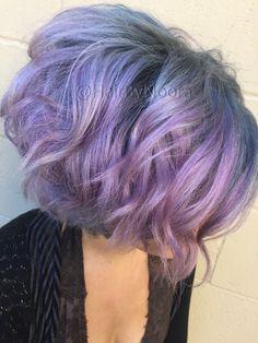 Unicorn hair Purple hair lavender hair pastel hair silver hair grey hair olaplex