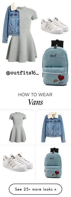 """""""Untitled #407"""" by merywalls02 on Polyvore featuring Superdry, H&M, adidas Originals and Vans"""
