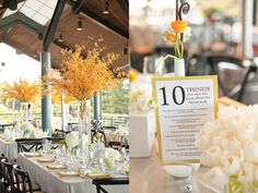 "Cute idea for tables around the reception. ""10 Things You May Not Know About The Newlyweds"""
