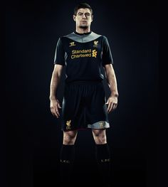 Steven Gerrard in the New 2012-13 Liverpool Away Kit