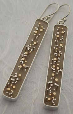 Carla Pennie Jewelry Design – Silver and Gold Wire Earrings