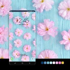 Pastel Blue, Pink Blue, Samsung Galaxy Wallpaper, Amazing Watches, Samsung Device, Android Apps, Galaxy Note, Badge, Spring