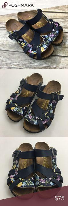 Birkenstock Papillio Pisa Sandals Blue Floral Birkenstock Papillio Pisa Sandals Blue Floral Combo Size 37  Please use the pictures as your best guide for the items description and condition. Lighting may change your perception of the actual color of the item. Pictures are of the actual item you will receive. If you have any questions do not hesitate to ask. Thank you! Birkenstock Shoes Sandals