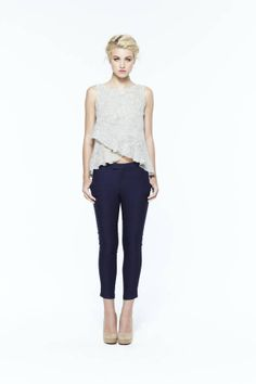paper crown: saybrook top + banks cropped trousers