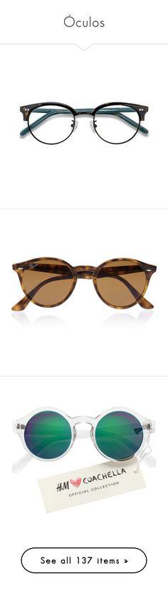 """Óculos"" by marymariamary ❤ liked on Polyvore featuring accessories, eyewear, eyeglasses, glasses, round eyeglasses, tortoise shell glasses, plastic eyeglasses, round lens glasses, round tortoise shell eyeglasses and sunglasses"