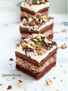 Ciasto Michałek troszku inna wersja :) Polish Desserts, Polish Recipes, Summer Dessert Recipes, Delicious Desserts, Cake Recept, No Bake Cake, Sweet Recipes, Baking Recipes, Cupcake Cakes