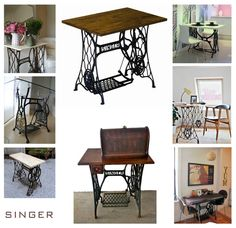 Redo old sewing machine table