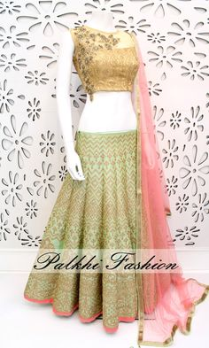PalkhiFashion Exclusive Full flair Lime Green Colored Designer Lehenga Highlighted With Elegant Hand work and Embroidered Work On Lehenga . Mehndi, Henna, Indian Attire, Indian Ethnic Wear, Indian Dresses, Indian Outfits, Indian Clothes, Lehenga Collection, Lehenga Designs