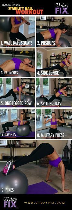 Toning with ball.