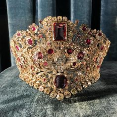 """96 Likes, 6 Comments - Sarah Royce-Greensill (@srgjewel) on Instagram: """"Sunday finest Ruby, spinel and diamond diadem spotted in the Residenz in Munich - apparently it…"""""""