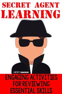 Secret Agent Learning: Check out these engaging activities to help your students review essential Math & Language Arts Skills! via @mbuckets