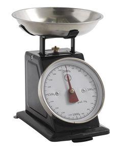 Retro-Küchenwaage, Gr. S bis 2kg, schwarz, von Nordal, 23,95 &eu