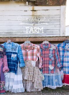All new Farm Girl Fancies Upcycled Flannel Shirts listing in our Etsy shop Tonight at 7:00 p.m. central .. limited sizes and qtys available.