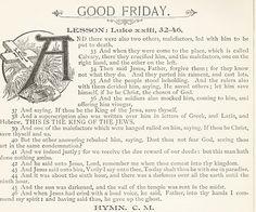 Good Friday Vintage Scripture Lesson King James Bible