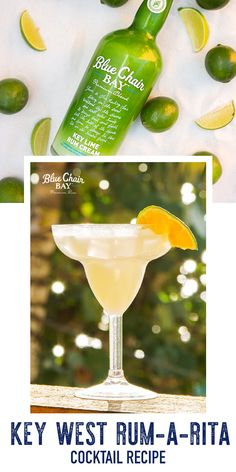 Bring the Keys to your place. This Key West Rum-A-Rita is a delicious frozen cocktail recipe.   Blend all ingredients together in a blender. Pour into cocktail glass. Garnish with a lime wheel.  #bluechairbay #keylimerumcream #BCBHappyHour Cocktail Glass, Cocktail Drinks, Cocktail Recipes, Key Lime Rum Cream, Silver Tequila, Bay Rum, Key Food, Frozen Cocktails, Graham Cracker Crust