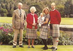HRM Queen Elizabeth, II with her husband Prince Philip, son, Prince Andrew, Andrew's wife and child.