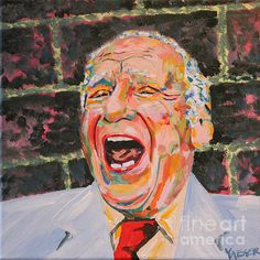 A pop art influenced portrait of one of the funniest people who ever lived, Mel Brooks.