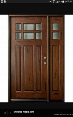 Classic Series Mahogany Solid Wood Front Entry Door - Single with 2 Sidelites - & Homestead Doors Inc - White Oak Custom 3-Panel Solid Wood Doors ...