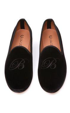 Del Toro Prince Albert Monogram Slipper Loafers at Moda Operandi