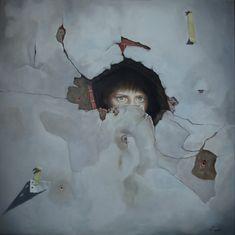 Obra denominada CURIOSIDAD, realizada en óleo sobre lienzo de 80x80 y bastidor de 3,50 cm.