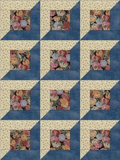 Cute easy to sew quilt kit already pre-cut for 12 quilt blocks. Pieces are cut to size and ready to sew. Flowers precut quilt kit for beginners.