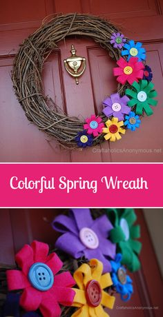 Craftaholics Anonymous® | 3 Spring Wreaths You can Make in Minutes