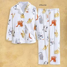 Happy Cat Flannel PJ Set - Best Selling Gifts, Clothing, Accessories, Jewelry and Home Décor
