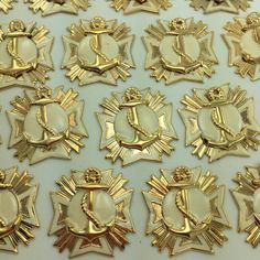 50 Vintage Starburst Anchor stamped brass charms by snew on Etsy (Craft Supplies & Tools, Jewelry & Beading Supplies, Charms, nautical, gold, earrings, new old stock, starburst charms, Snew, retro starburst, starburst pendants, brass starburst, stamped brass, starburst anchor, vintage anchor, vintage starburst)