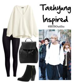 """Taehyung Inspired Outfit"" by btsoutfits ❤ liked on Polyvore featuring H&M, Reneeze and MANGO"