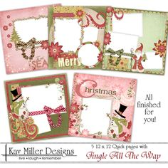 Jingle All The Way Set of five Quick Pages