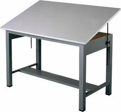 "Mayline Economy Ranger Steel Four-Post Drafting Table, 60"" W x 38.5"" D (7726 - Medium Tone Base, Fog Gray Top) by Mayline. $694.99. Mayline Economy Ranger Steel Four-Post Drafting Table"