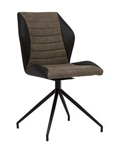 Amazon.com: Calico Designs Gladstone Two-Tone Swivel Armless, No Casters, Home Office Accent Chair Metal 4-Star Base/Brown and Black Tufted Faux Leather, Back: Kitchen & Dining