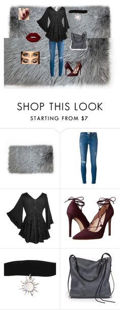 """""""Untitled #4"""" by blake-christine-cummings ❤ liked on Polyvore featuring Frame Denim, Massimo Matteo, Ina Kent and Lime Crime"""