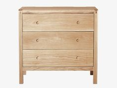 RADIUS NATURAL Wood Oak 3 drawer chest - Bedside and Chest of Drawers- HabitatUK
