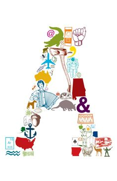 A is for... 11 x 17 Letter A Poster by eakdesign on Etsy. $16.50, via Etsy.  LOVE!  Local STL artist