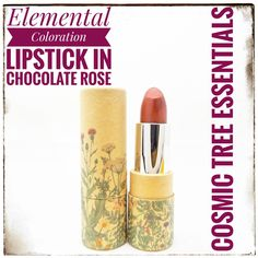 Lipsticks Made with Chocolate! Dark Lipstick Shades, Peach Lipstick, Chocolate Roses, Like Chocolate, Elderberry Fruit, How To Make Lipstick, Organic Dark Chocolate, Mineral Cosmetics, Theobroma Cacao