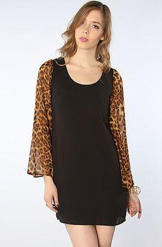 The Leopard Wingsleeved Dress in Multi S|M|L