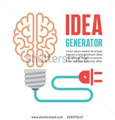 Illustration of Human brain in light bulb vector illustration. Idea generator - creative infographic concept for presentation, booklet, web site and other design projects. vector art, clipart and stock vectors. Brain Tattoo, Light Bulb Art, Vintage Light Bulbs, Creative Infographic, Typographic Logo, Free Vector Art, Vector Design, Graphic Design, Website